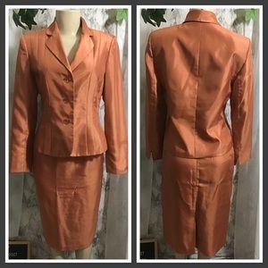 Burnt Orange Skirt Suit